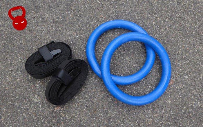 Гімнастичні кільця с пластику сині