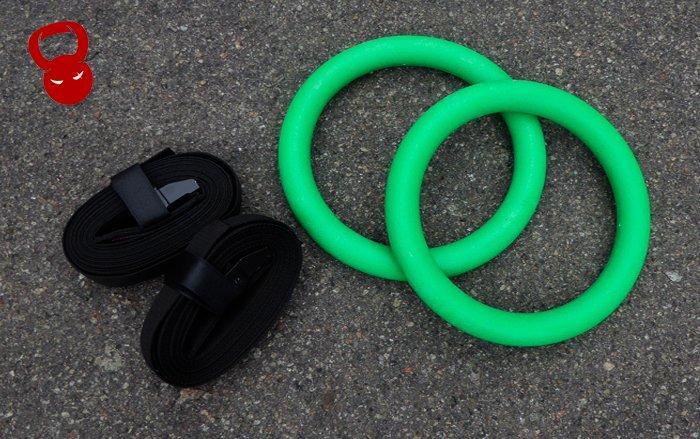 Гімнастичні кільця с пластику зелені