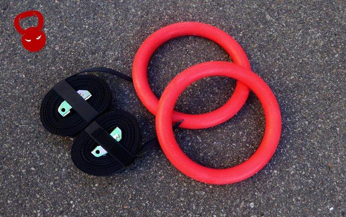 Кільця для гімнастики із пластику