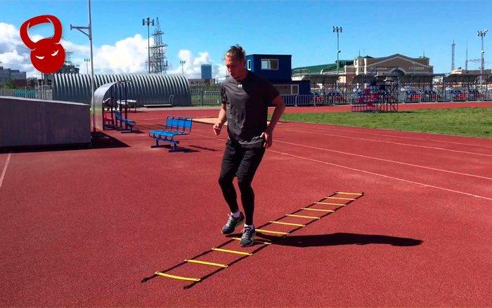 Тренировка с лестницей для координации