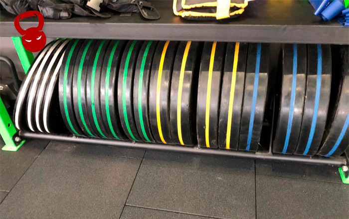 Разноцветные бамперные диски RBD-1