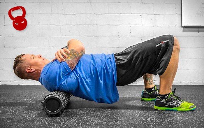 Упражнения с массажным валиком