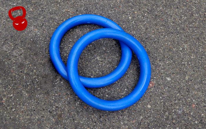 Гимнастические кольца из пластика синие